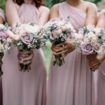 lilac and blush bouquets
