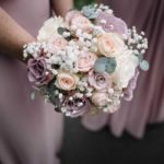 lilac and blush single bouquet