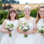 pink and ivory bridesmaids